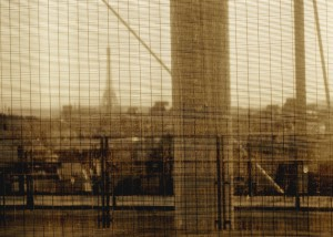 Eiffel Tower from the Pompidou-Sepia-603