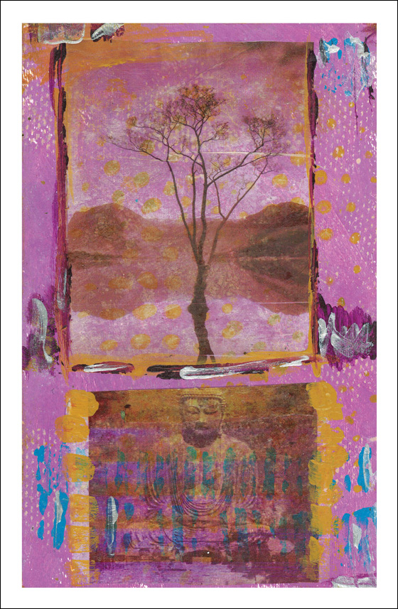 Purple Tree and Buddha-201